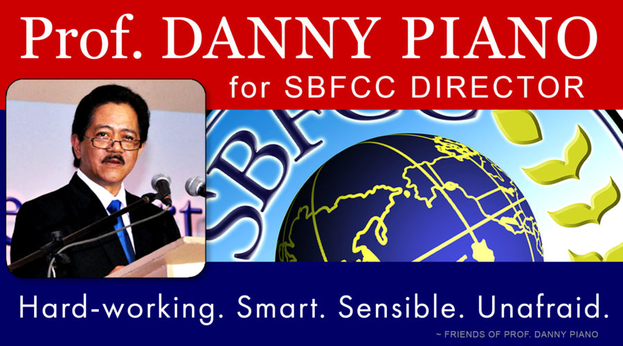 Prof. Danny Piano running for SBFCC Director position